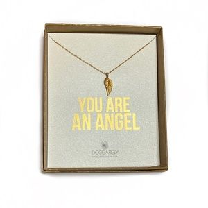 """Dogeared Gold Plated 16"""" Necklace-Angel Wing"""